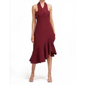 KEEPSAKE Delight Midi Plum Dress Size Med 6